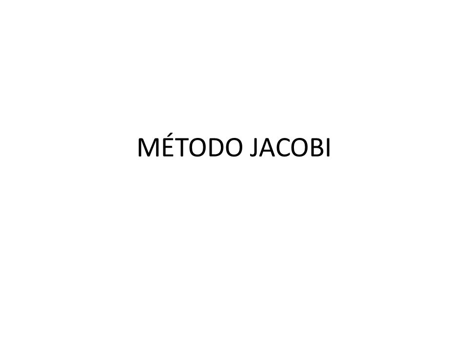 CÓDIGO JACOBI EM PASCAL Program Metodo_de_Jacobi; {$APPTYPE CONSOLE} uses SysUtils; vari,j,n,ite,cont,nite,k:integer; a:array[0..100,0..100] of real; b,x,soma:array[0..100] of real; e,c:real;