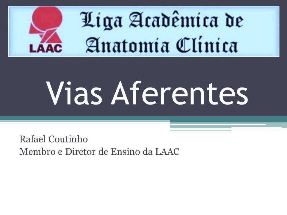 Vias Aferentes Rafael Coutinho Membro e Diretor de Ensino da LAAC