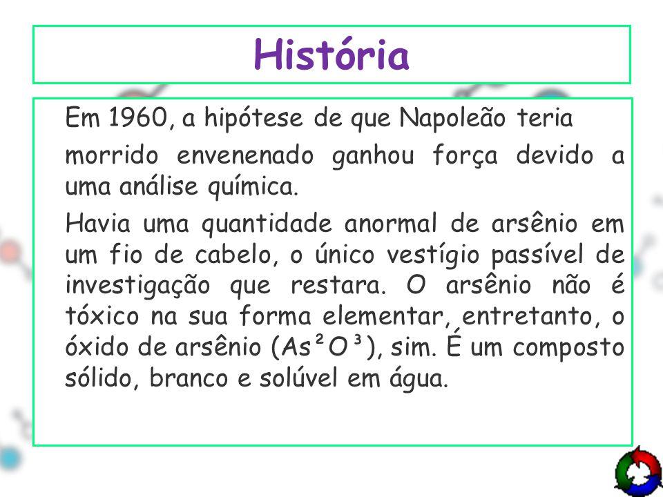 História Em 1960, a hipótese de que Napoleão teria morrido envenenado ganhou força devido a uma análise química.