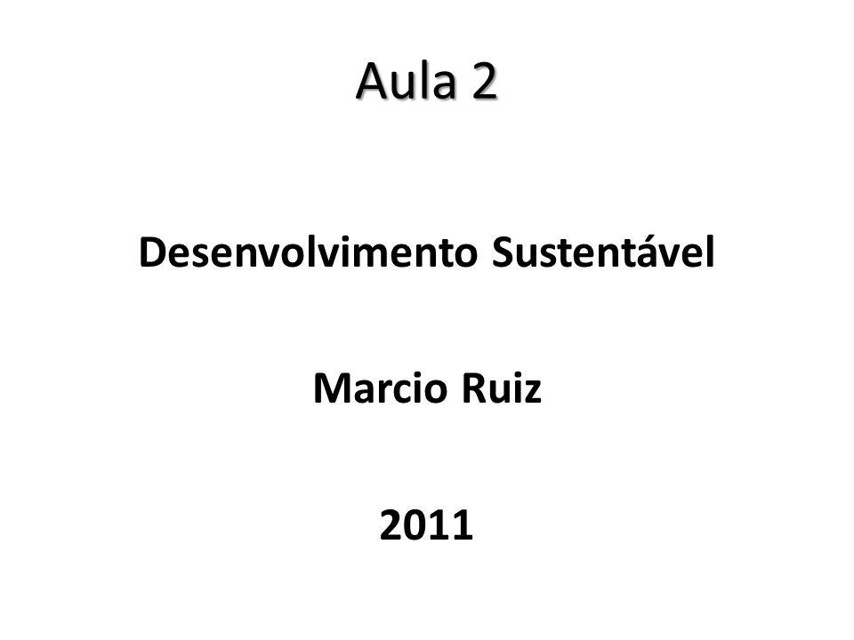 Aula 2 Desenvolvimento Sustentável Marcio Ruiz 2011