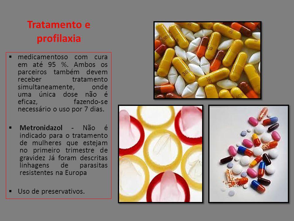 Tratamento e profilaxia medicamentoso com cura em até 95 %. Ambos os parceiros também devem receber tratamento simultaneamente, onde uma única dose nã