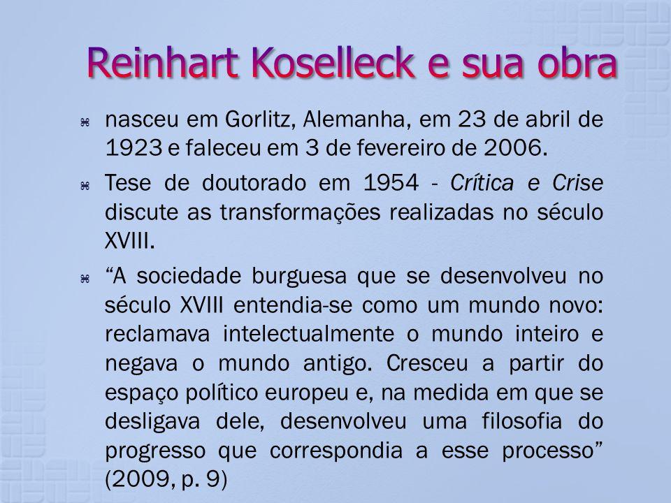 nasceu em Gorlitz, Alemanha, em 23 de abril de 1923 e faleceu em 3 de fevereiro de 2006. Tese de doutorado em 1954 - Crítica e Crise discute as transf