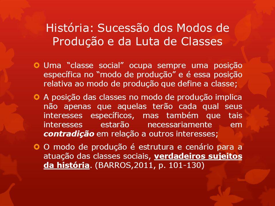 Uma classe social ocupa sempre uma posição específica no modo de produção e é essa posição relativa ao modo de produção que define a classe; A posição