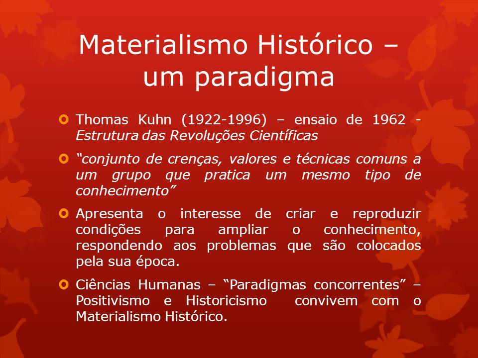 Thomas Kuhn (1922-1996) – ensaio de 1962 - Estrutura das Revoluções Científicas conjunto de crenças, valores e técnicas comuns a um grupo que pratica