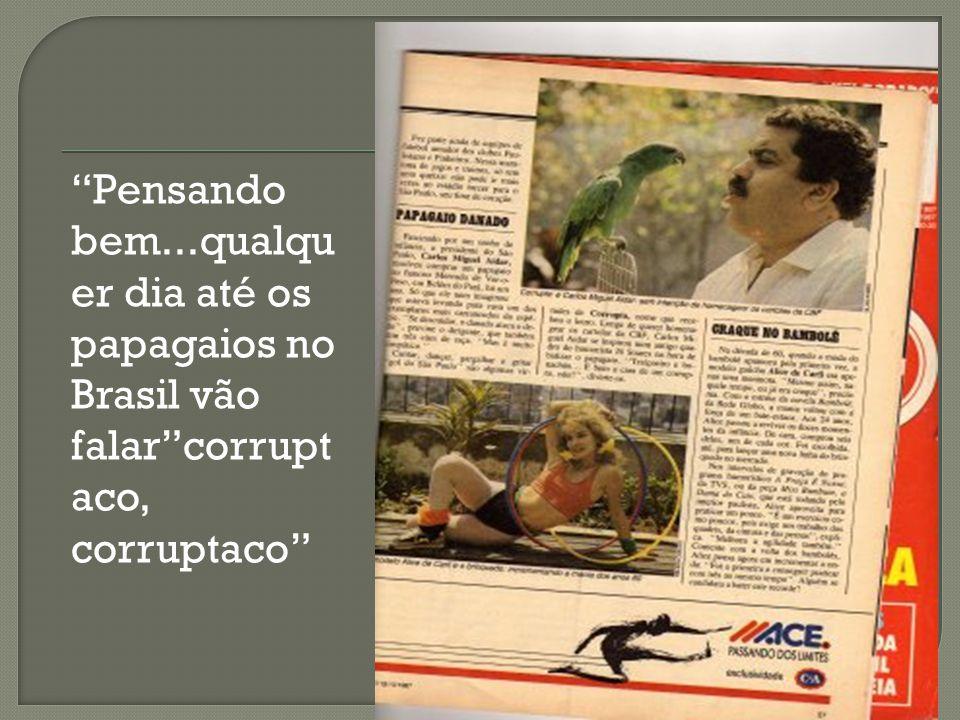 Pensando bem...qualqu er dia até os papagaios no Brasil vão falarcorrupt aco, corruptaco