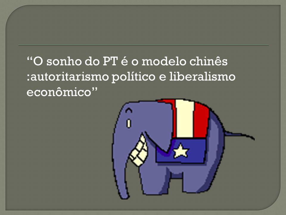 O sonho do PT é o modelo chinês :autoritarismo político e liberalismo econômico