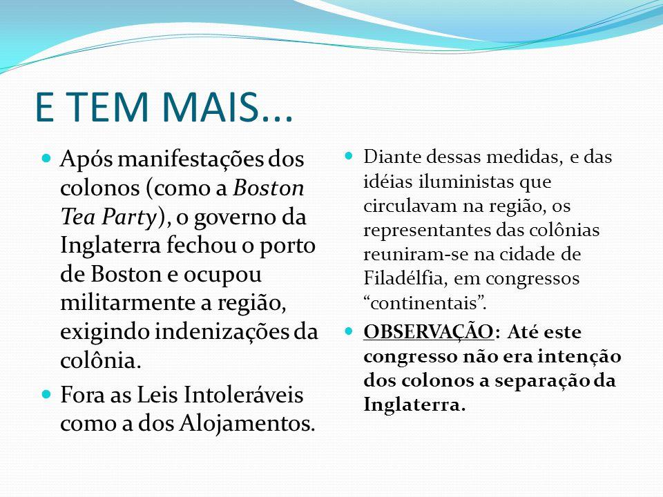 O PROCESSO DE INDEPENDÊNCIA MAS AS COISAS MUDARAM E MUITO...