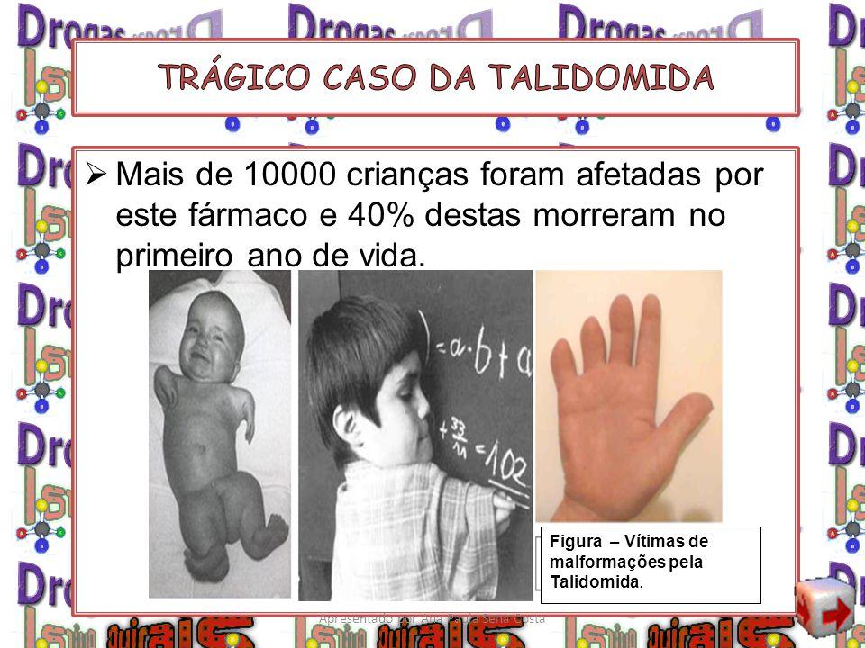 Mais de 10000 crianças foram afetadas por este fármaco e 40% destas morreram no primeiro ano de vida. Figura – Vítimas de malformações pela Talidomida