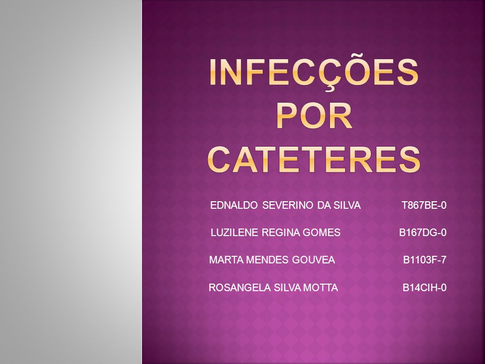 taxa de infecção associada ao CVC: 3,6 por 1.000 cateteres por dia; tempo médio entre inserção do cateter e infecção: 11,8 dias; tempo entre a permanência no CTI até o diagnóstico da infecção: 17,9 dias; sepse associada ao cateter: 5 pacientes;