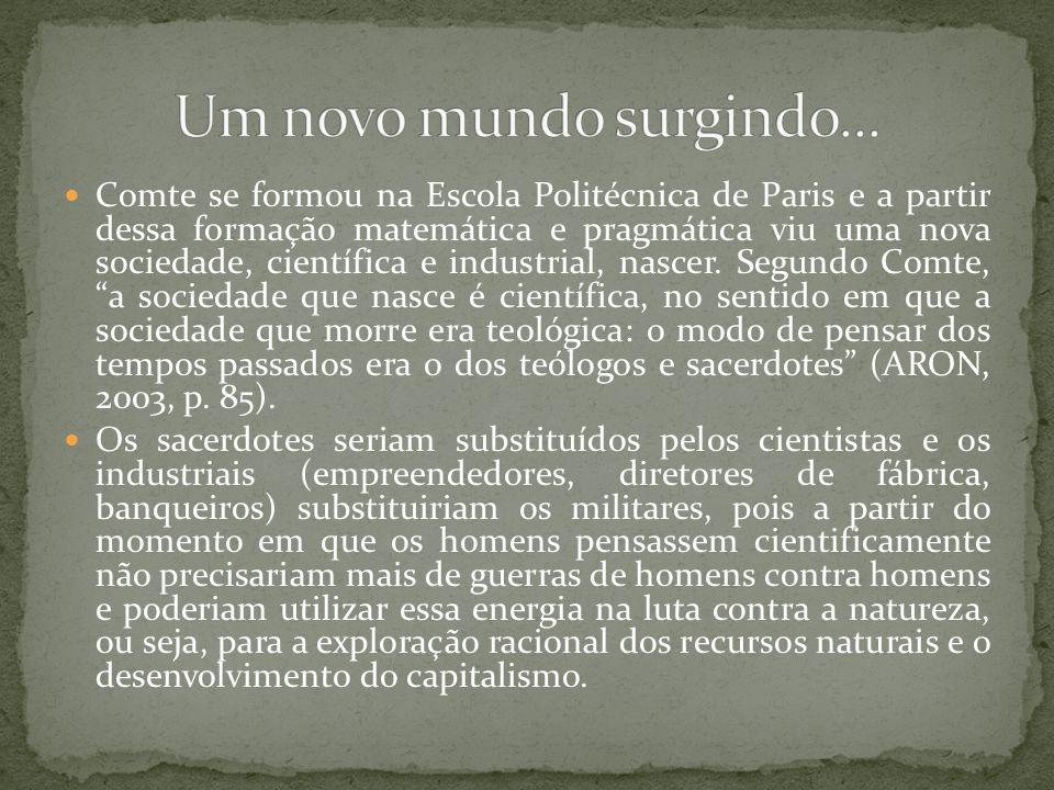 necessária reforma social conduzida a partir de uma reforma intelectual.