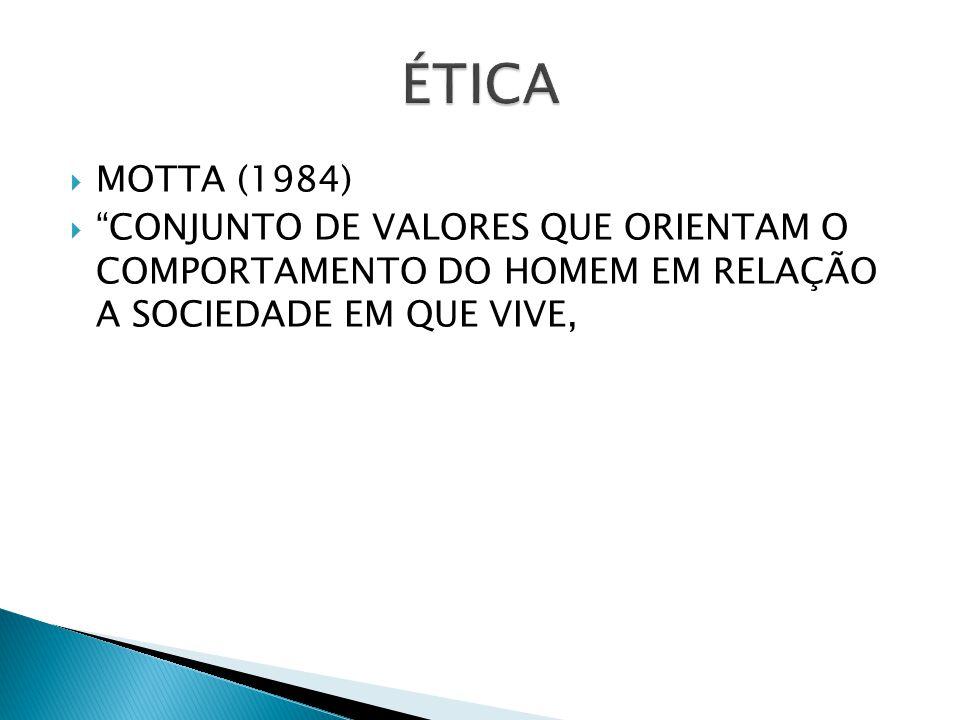 GARANTIR, O BEM-ESTAR SOCIAL, OU SEJA, ÉTICA É A FORMA QUE O HOMEM DEVE SE COMPORTAR NO SEU MEIO SOCIAL.