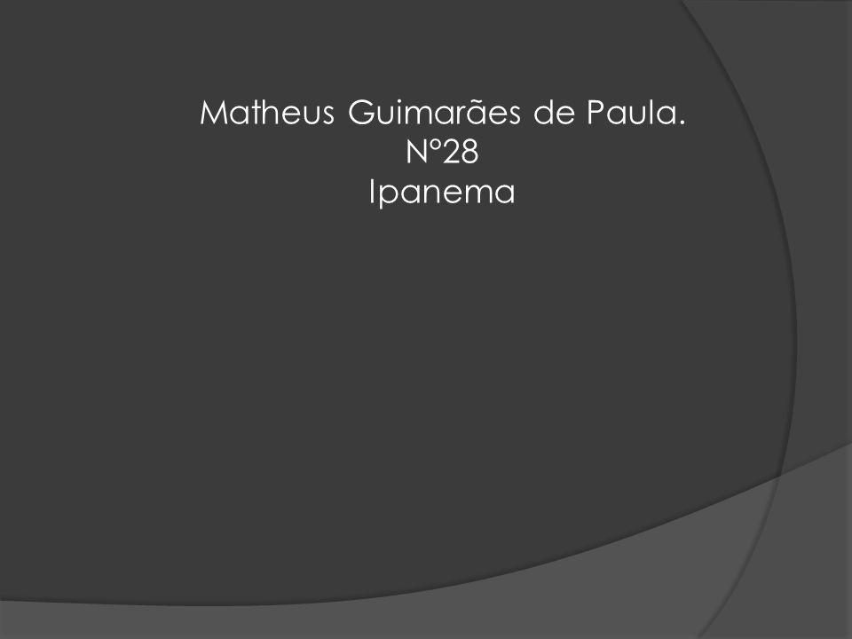 Matheus Guimarães de Paula. N°28 Ipanema