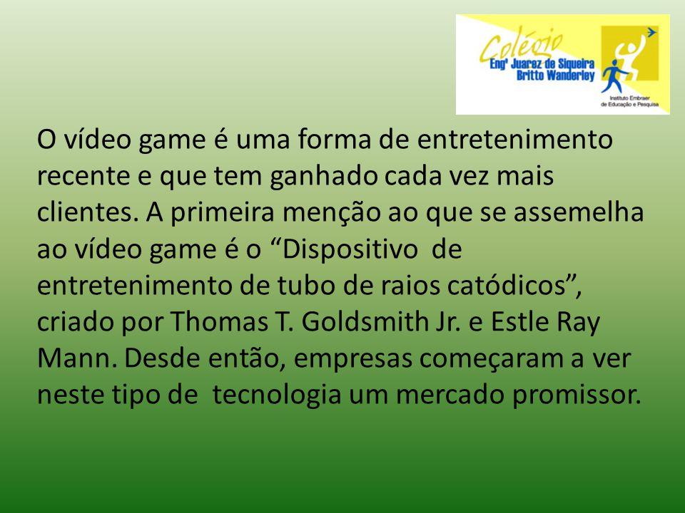 O vídeo game é uma forma de entretenimento recente e que tem ganhado cada vez mais clientes. A primeira menção ao que se assemelha ao vídeo game é o D