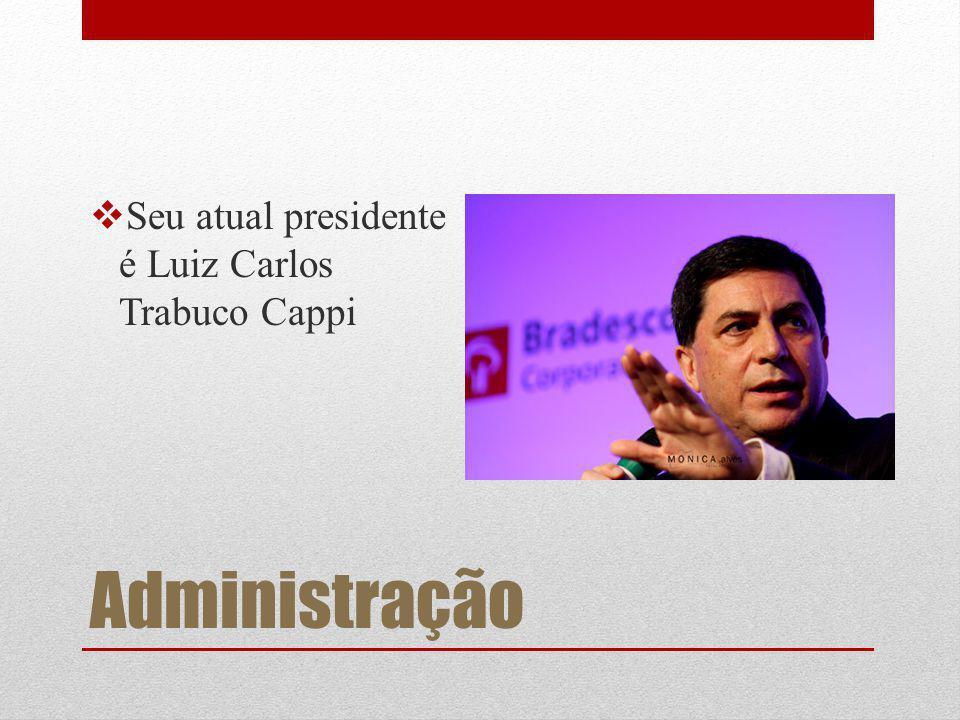 Administração Seu atual presidente é Luiz Carlos Trabuco Cappi