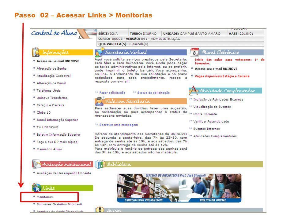 Passo 03 – Rolar a página até o campo de inscrição (parte inferior central)