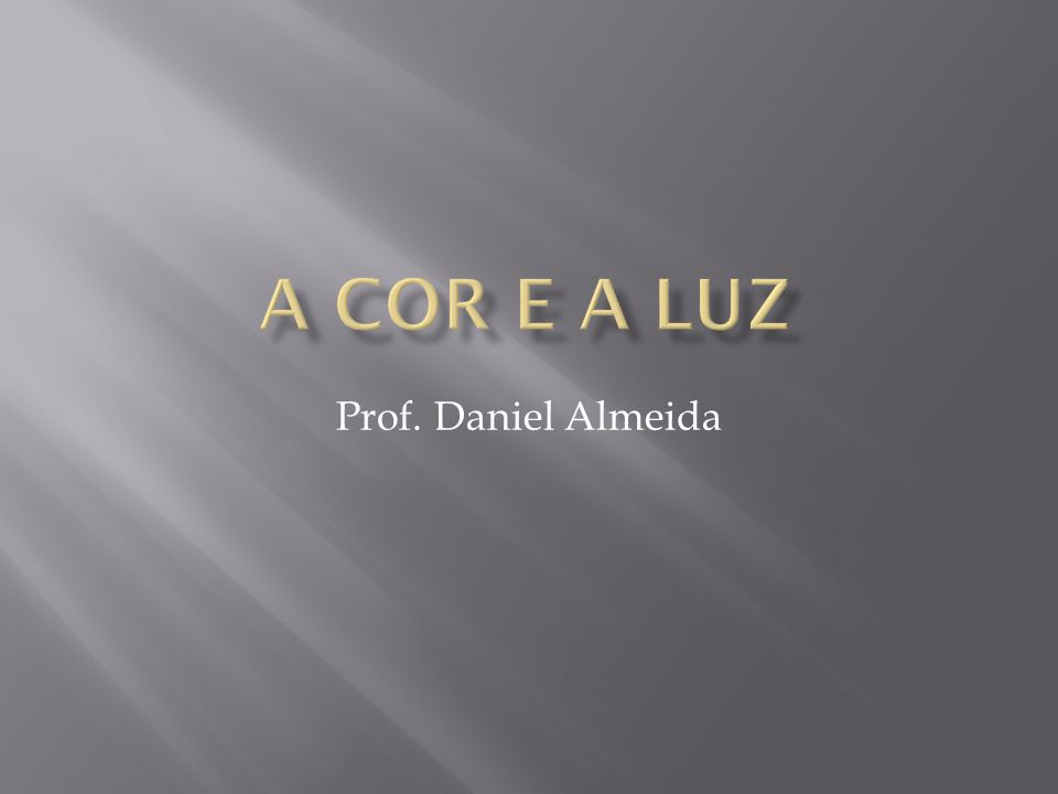 Prof. Daniel Almeida