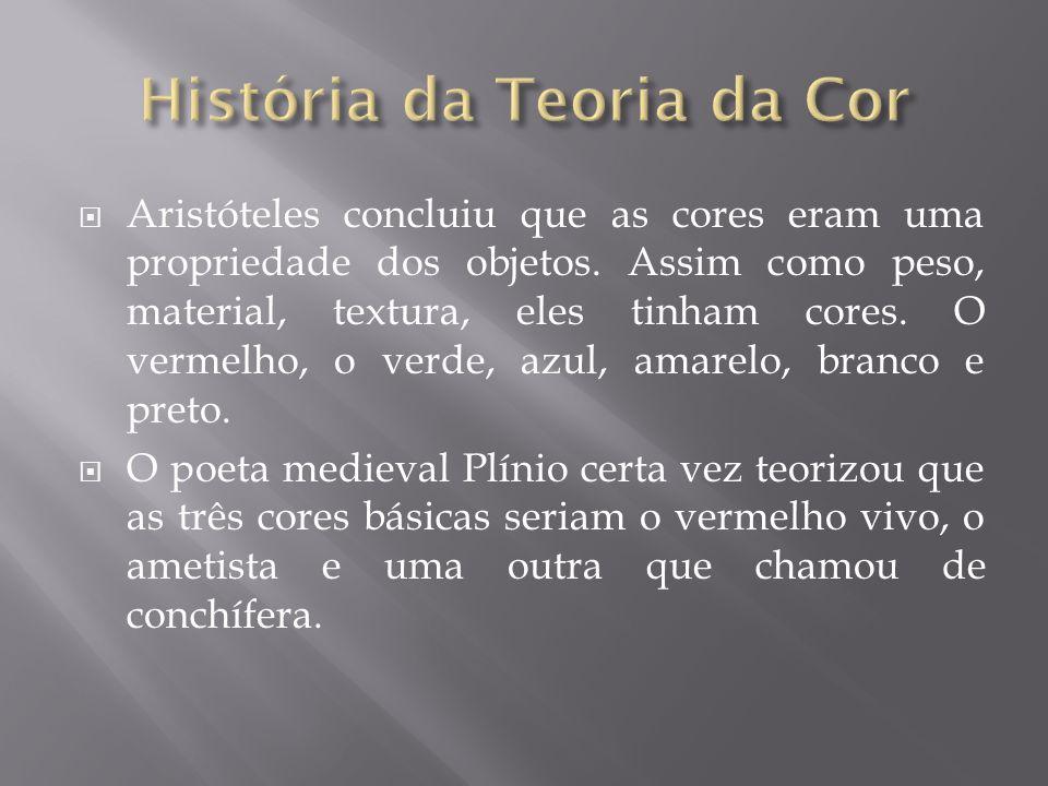 Aristóteles concluiu que as cores eram uma propriedade dos objetos.