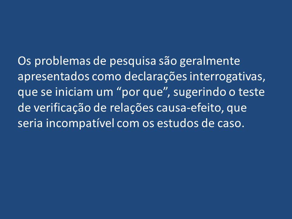 Os problemas de pesquisa são geralmente apresentados como declarações interrogativas, que se iniciam um por que, sugerindo o teste de verificação de r
