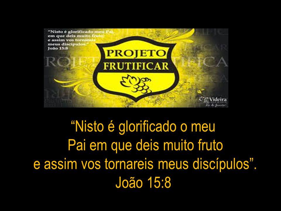 Nisto é glorificado o meu Pai em que deis muito fruto e assim vos tornareis meus discípulos. João 15:8