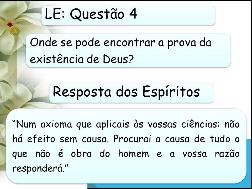 Onde se pode encontrar a prova da existência de Deus.