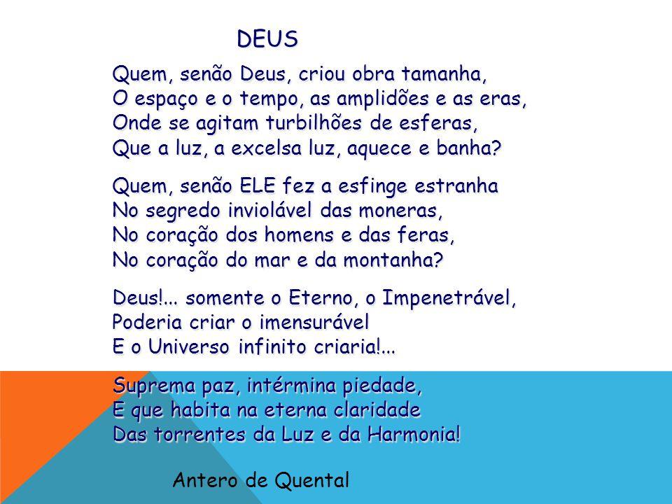 Quais as principais idéias de Antero de Quental (espírito) nessa poesia acerca de DEUS?