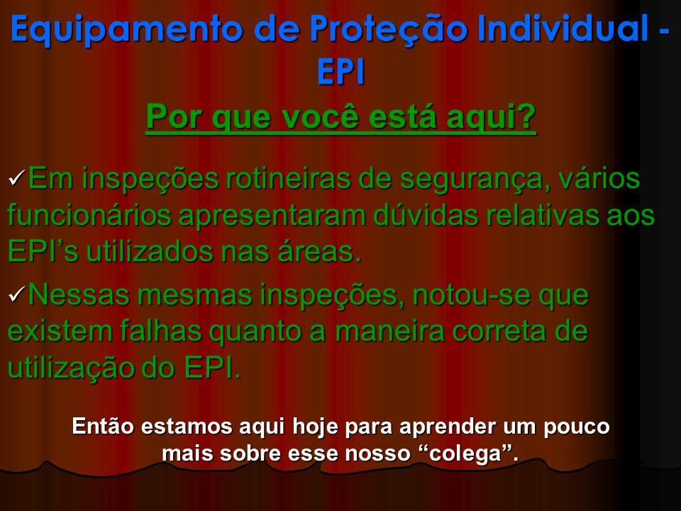 Equipamento de Proteção Individual - EPI Uso Correto de EPI s: Prot.