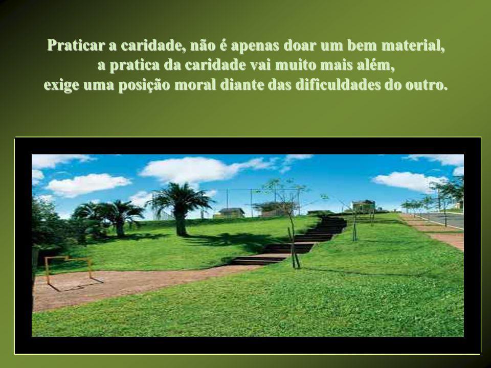Onde brilha a caridade? A caridade brilha, dentro dos corações, onde não há misérias morais...