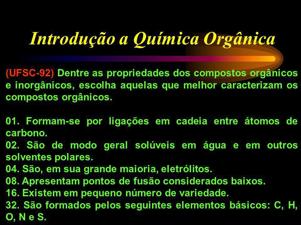Introdução a Química Orgânica 01. Representa os orbitais das ligações na molécula de eteno. 02. Representa os orbitais das ligações na molécula de eti