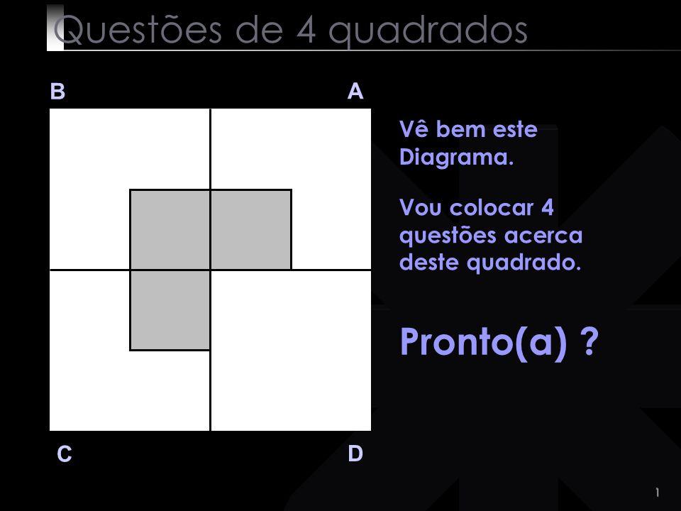 1 Questões de 4 quadrados B A D C Vê bem este Diagrama.