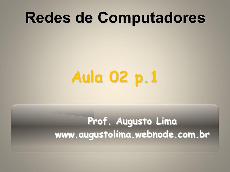 Prof. Augusto Lima www.augustolima.webnode.com.br Aula 02 p.1 Redes de Computadores