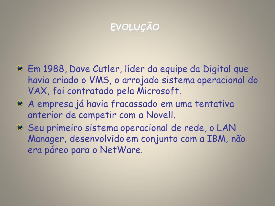 Em 1988, Dave Cutler, líder da equipe da Digital que havia criado o VMS, o arrojado sistema operacional do VAX, foi contratado pela Microsoft. A empre