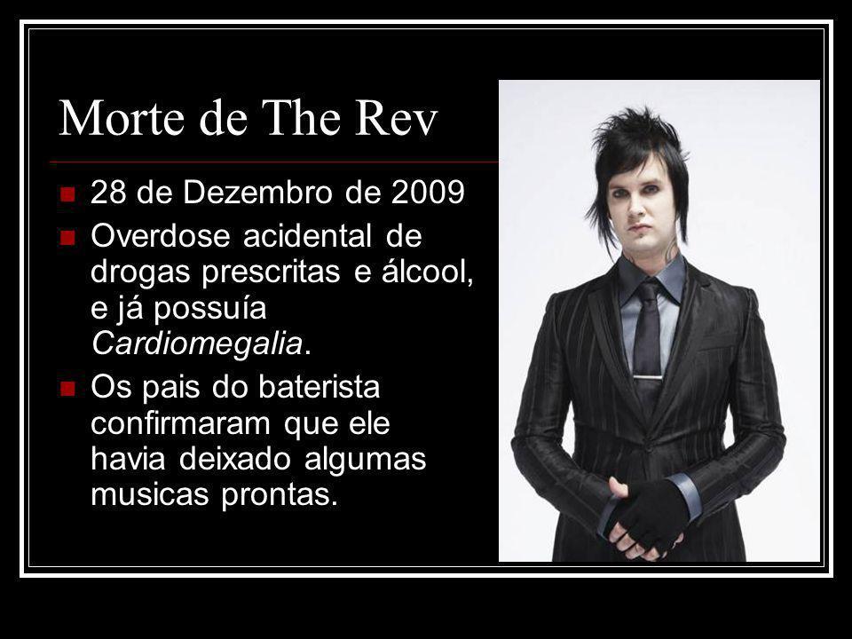 Morte de The Rev 28 de Dezembro de 2009 Overdose acidental de drogas prescritas e álcool, e já possuía Cardiomegalia.