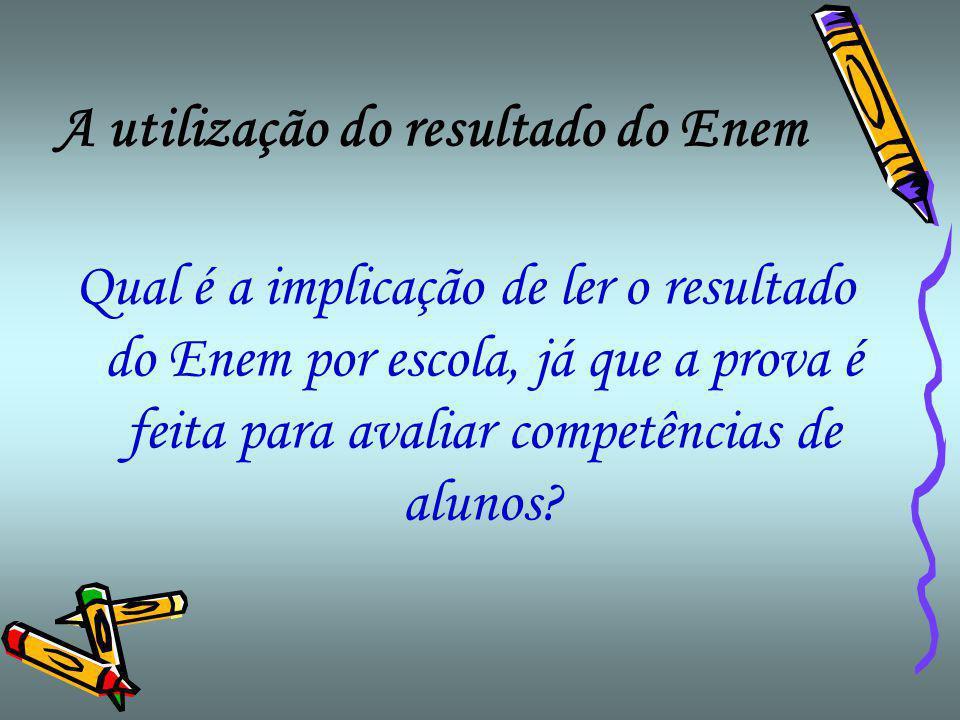 A utilização do resultado do Enem Há uma maneira correta de ranquear o resultado do Enem?