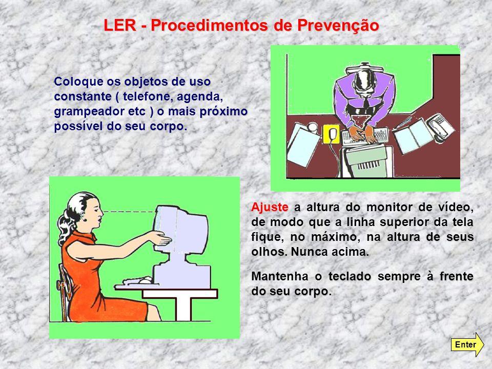 Utilize Utilize um suporte de documentos colocado a sua frente frente para não forçar o pescoço para os lados durante a leitura. Evite Evite a torção