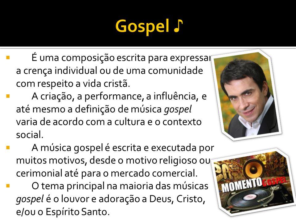 É uma composição escrita para expressar a crença individual ou de uma comunidade com respeito a vida cristã. A criação, a performance, a influência, e