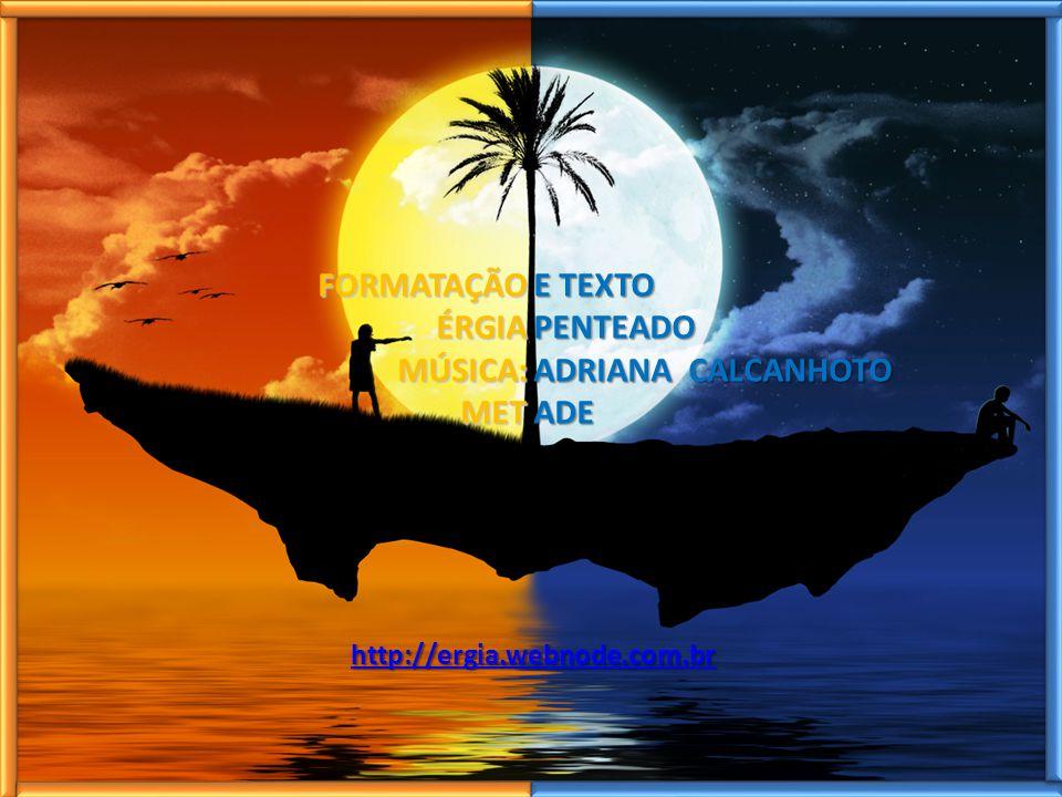 FORMATAÇÃO ÉRGIA ÉRGIA MÚSICA: MÚSICA: MET MET E TEXTO PENTEADO ADRIANA CALCANHOTO ADE http://ergia.webnode.com.br