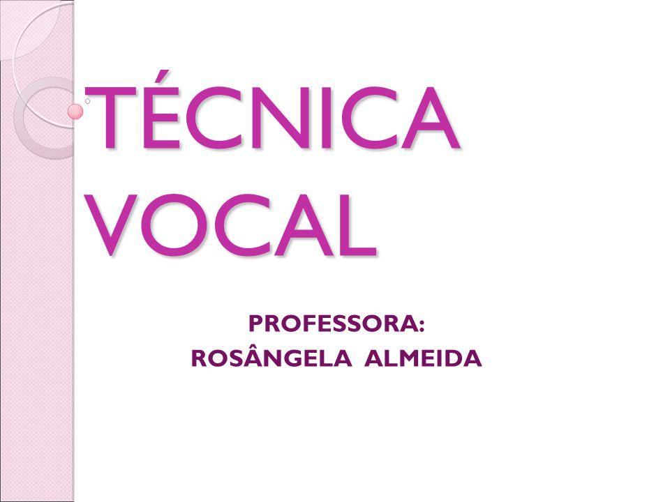 CUIDADO COM A VOZ A Voz é nosso instrumento de trabalho.