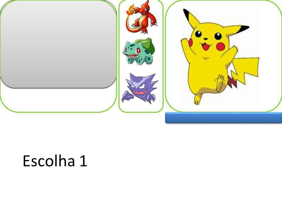 Batalha Pikachus são pequenos ratos elétricos e tímidos,suas descargas saem de suas bochechas...