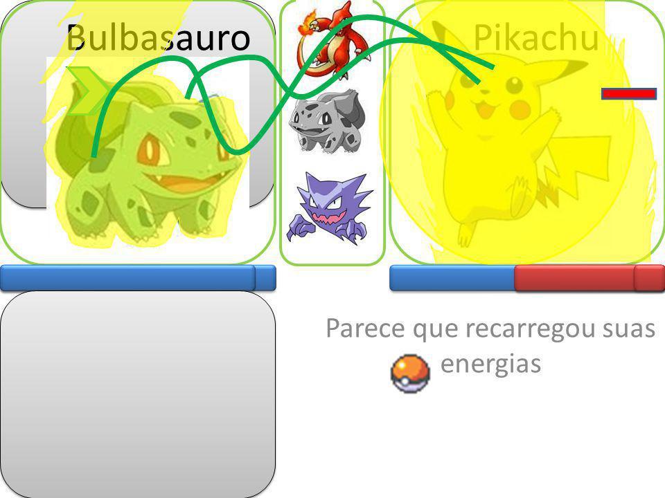 Ataques Esfera negra Haunter Pikachu Ataques Evasiva Haunter está ficando sem energia Tente outro né