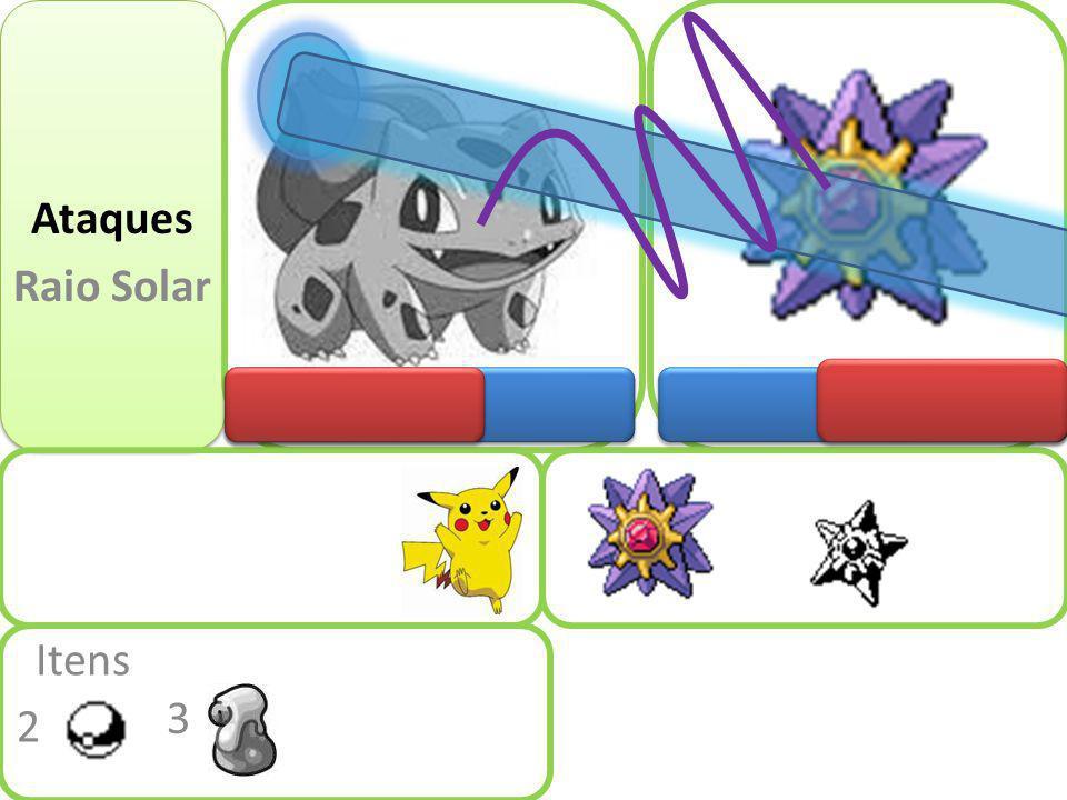 Tente o raio solar Status: Normal Itens 2 3 Fugir Ataques Raio Solar Ataques Folhas navalhas Tente novamente Próximo