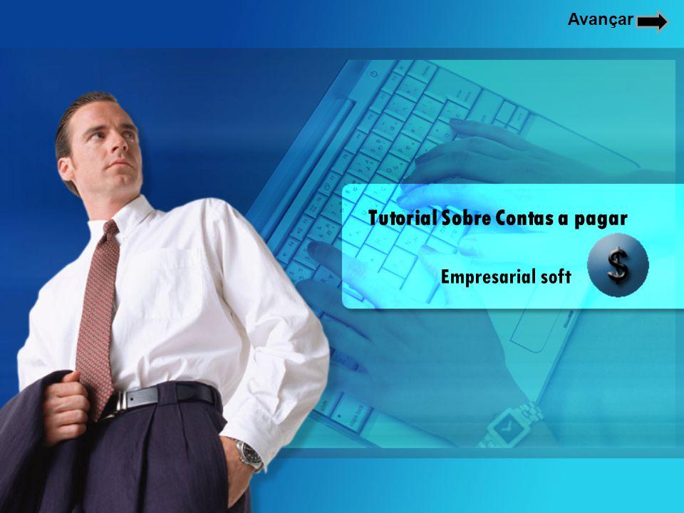Para cadastrar contas a pagar, na tela inicial do programa, clique no botão Conta pagar.