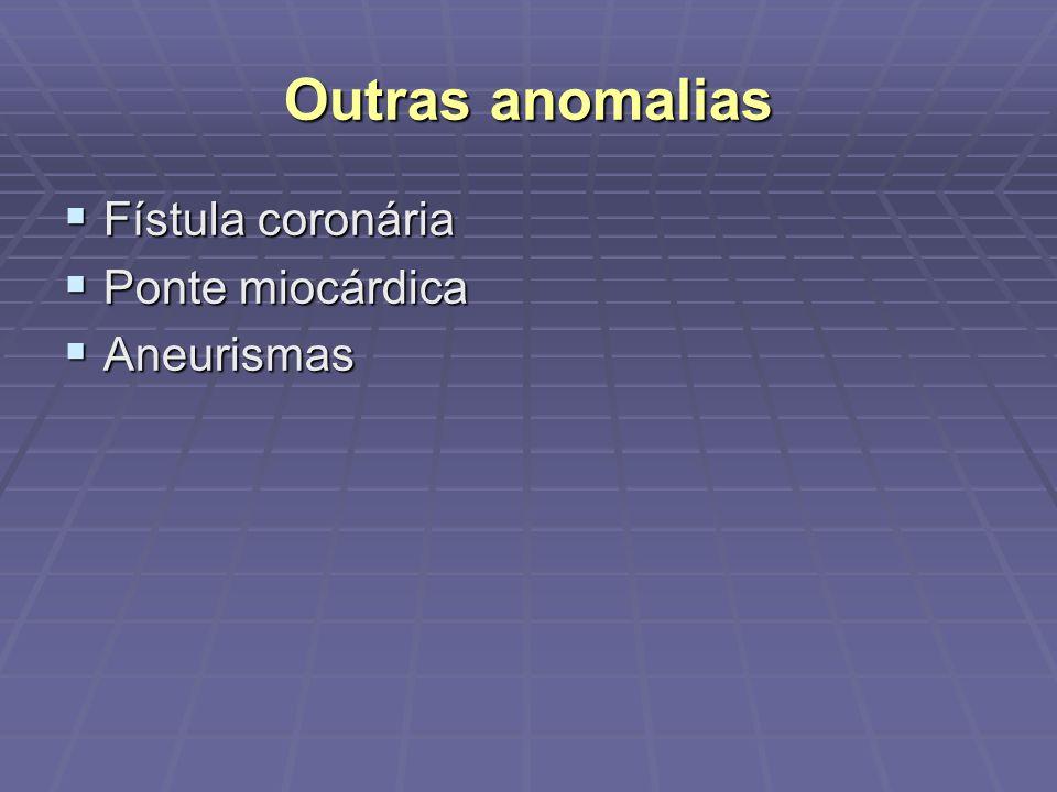 Projeções Angiográficas Tronco da coronária esquerda: melhor visualizado na projeção AP (especialmente o óstio) ou com leve angulação caudal (10-20º) Artéria descendente anterior: 1/3 proximal: OAD caudal e OAE cranial (coração verticalizado) ou caudal (coração horizontalizado); 1/3 médio e distal: OAD ou AP cranial, OAE cranial, lateral esquerda.