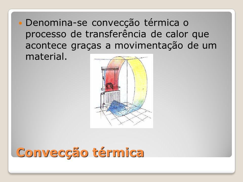 Convecção térmica Denomina-se convecção térmica o processo de transferência de calor que acontece graças a movimentação de um material.
