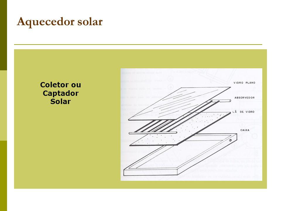 Aquecedor solar Coletor ou Captador Solar