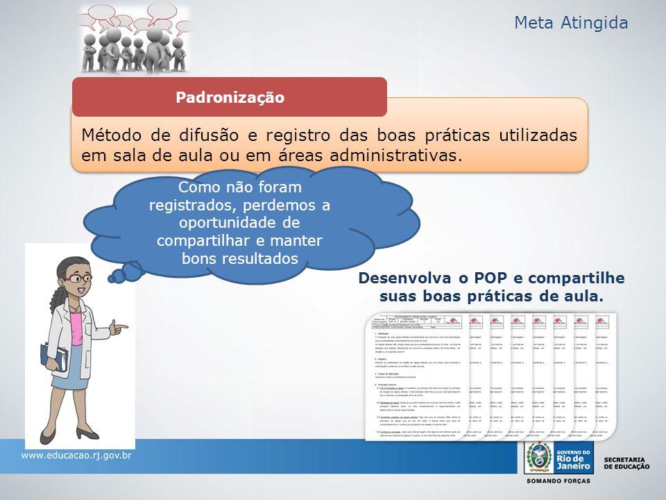Método de difusão e registro das boas práticas utilizadas em sala de aula ou em áreas administrativas.