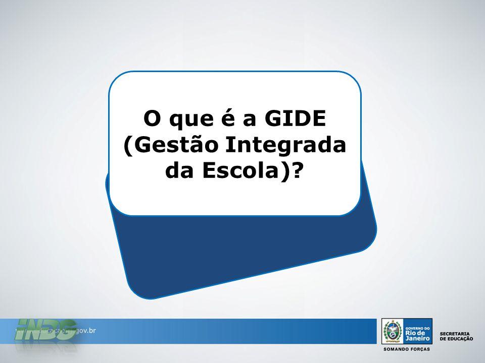 O que é a GIDE (Gestão Integrada da Escola)?