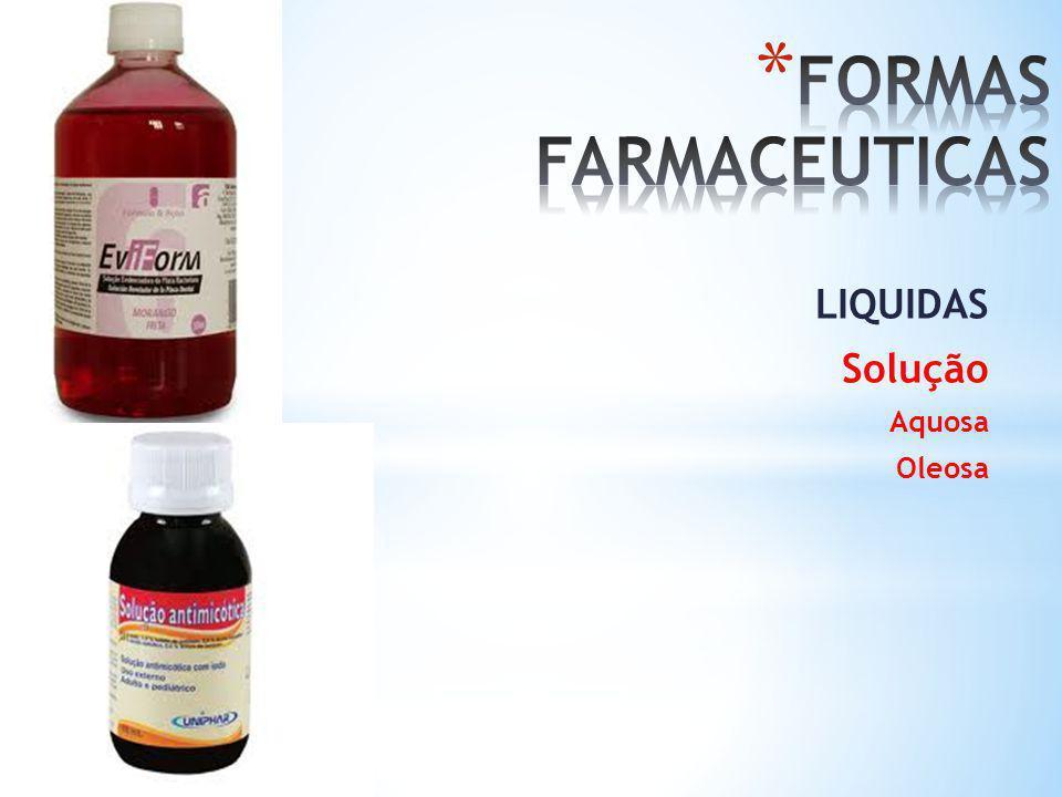 LIQUIDAS Solução Aquosa Oleosa