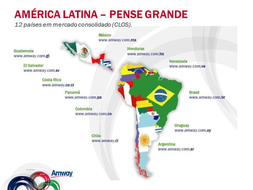 AMÉRICA LATINA – PENSE GRANDE 12 países em mercado consolidado (CLOS).