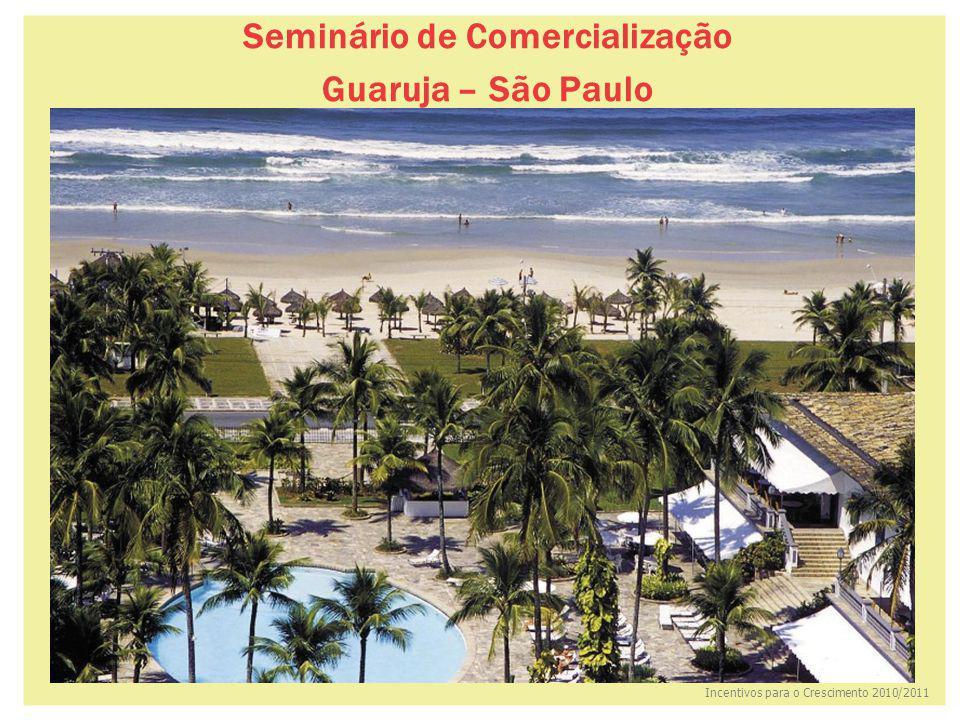 Incentivos para o Crescimento 2010/2011 Seminário de Comercialização Guaruja – São Paulo