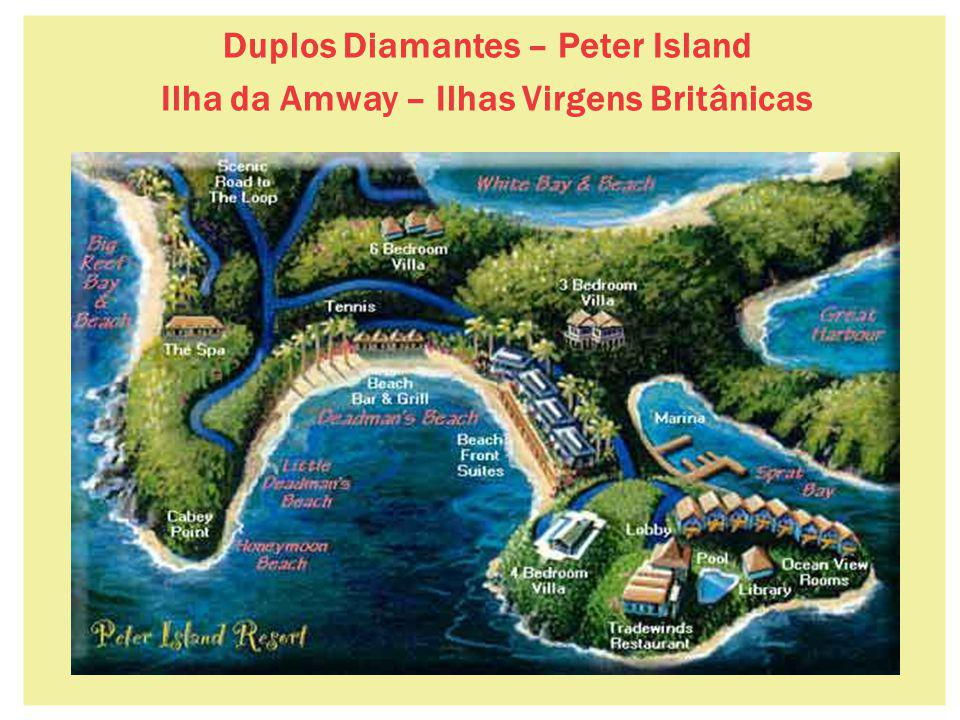 Duplos Diamantes – Peter Island Ilha da Amway – Ilhas Virgens Britânicas